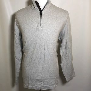 Chaps L Large Men's Sweater 1/4 Zip Pullover Gray
